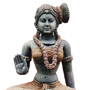 Wooden seated Parvathy - Antique finish | Height: 30 inches | Width: 16 inches