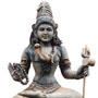 Wooden seated Shiva - Antique finish | Height: 30 inches | Width: 20 inches
