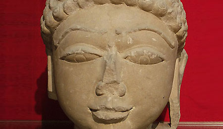 tone Jina Head | Buff Sandstone | 11th Century, Madhya Pradesh | Height:11 inches