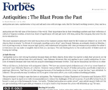 Forbes India - Antiquities the blast from the past