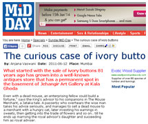 Mid Day - The curious case of ivory buttons